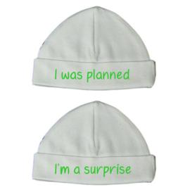 Kraampakket tweeling - Mutsjes I was planned