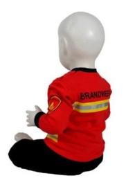 Pyjama brandweer - Rood