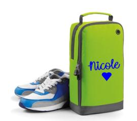 Schoenen/accessoire tas met naam