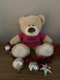 Kerstknuffel Boris met kerstgroet