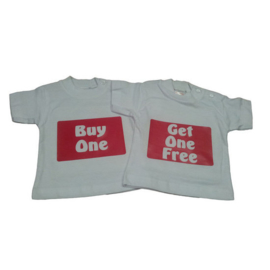 Tweeling shirtjes Buy one - Get one free