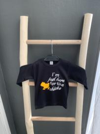 T-Shirt  - kuikentje - I'm just here for the chicks