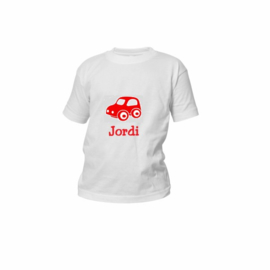 T-shirt met naam/ diverse afbeeldingen
