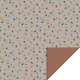 Inpakpapier | Confetti Multi - Taupe - Terra