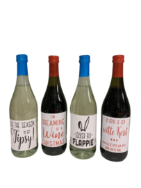 Fles wijn met humor!