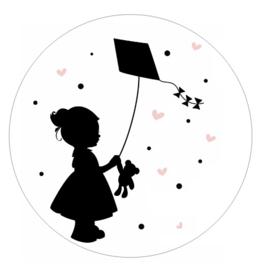 Muurcirkel | Meisje met vlieger