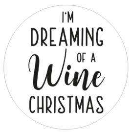 Muurcirkel | Dreaming of a wine christmas