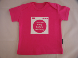 T-Shirt - Remove baby before washing