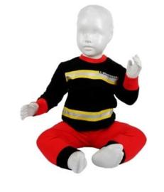 Pyjama brandweer - Zwart