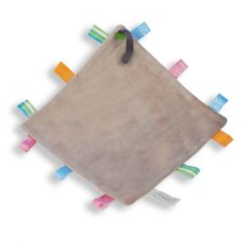 Labeldoekje speen (met naam) - Grijs
