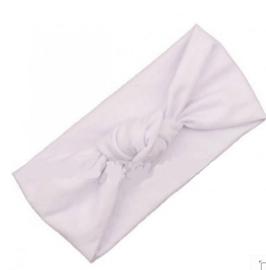 Haarbandje met knoop- wit