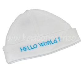 Baby Muts Hello World (turquoise)
