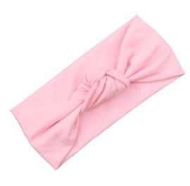 Haarbandje met knoop- licht roze