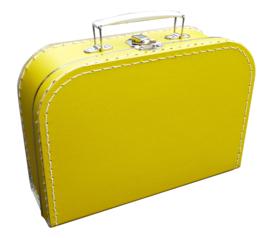 Kinderkoffertje (met naam) - Geel
