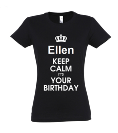 T-shirt | NAAM keep calm it`s your birthday