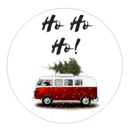 Muurcirkel | Ho Ho Ho! kerstbus