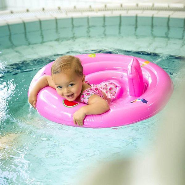 Baby Zwemzitje roze 0-1 jaar