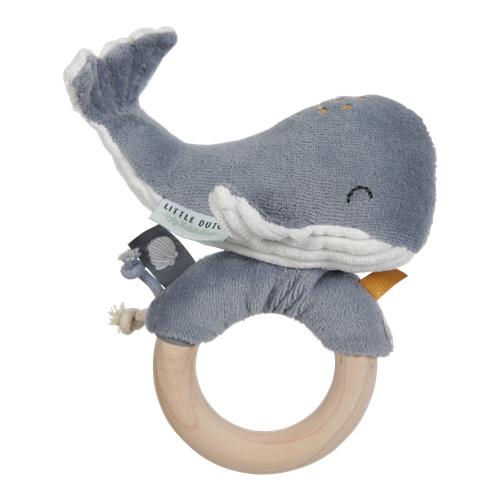 Little Dutch ringrammelaar walvis ocean blue