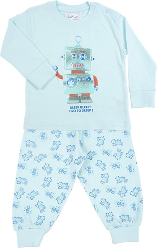 Pyjama Robot Go To Sleep - Blauw