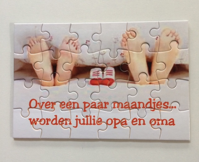 Verwonderend Puzzel 24 stukjes - Hoera jullie worden opa/oma-oom/tante WQ-04