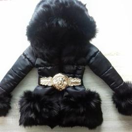 Winterjas met grote volle bontkraag - Leo GOLD V3