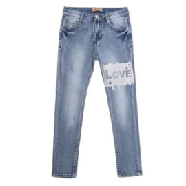 134 t/m 164 Jeans Girls SUPERStretch met steentjes