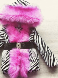 DAMES |  Winterjas met grote  bontkraag