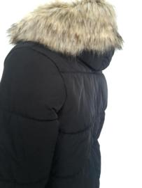Winterjas heren met grote bontkraag imitatiebont | GEEN RETOUR