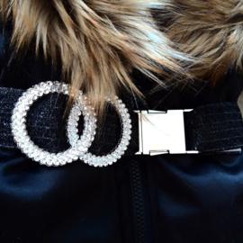 GEEN RETOUR  DAMES |  Zwarte Winterjas met grote  bontkraag | D4