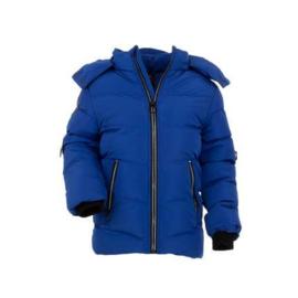 86  tm  116 Sale Bontkraag Jas jongens met imitatiebont  Winterjas blauw01