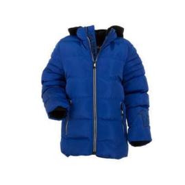 86  tm  128 Sale Bontkraag Jas jongens met imitatiebont  Winterjas blauw01