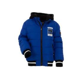 86  tm  104 Sale Bontkraag Jas jongens met imitatiebont  Winterjas blauw01