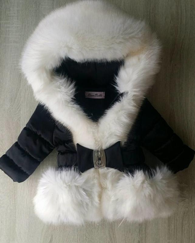 Cream winterjas Supersoft Fur  Bontkraag winterjas (creme bont )