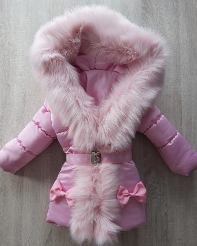 Winterjas met grote bontkraag
