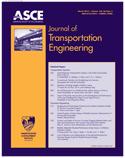 Journal of Transportation Engineering 1990-2001