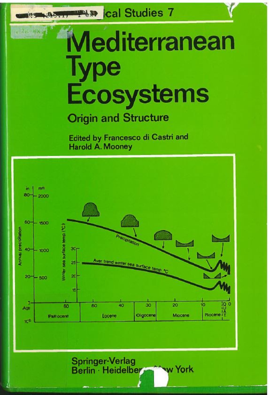 Mediterranean type ecosystems origin and structure