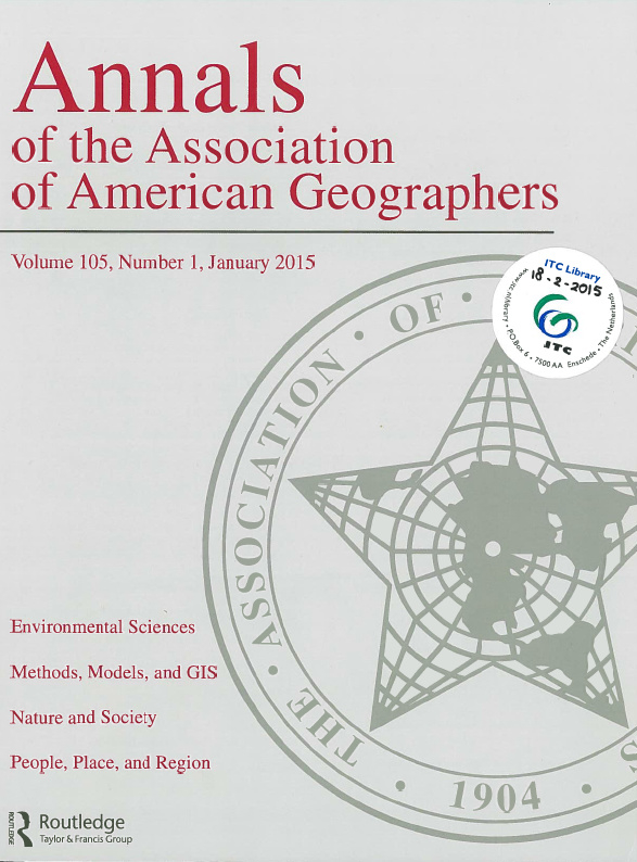 Annals of the Association of American Geographers AAG Vol. 105