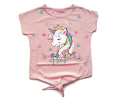 Unicorn t-shirt roze