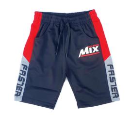 Jogger korte broek zwart/rood
