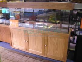 Massief eiken houten aquariummeubelen