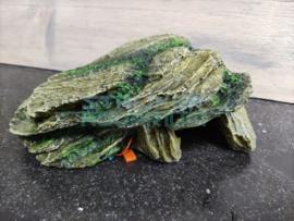 Decoratie steen/ rots met mos 20cm