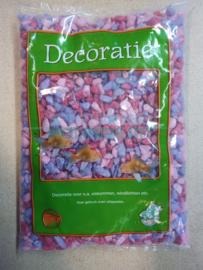 Glitter gravel/ grind mix roze/paars 1kg