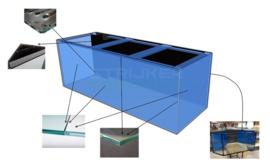Maatwerk en volglas aquarium