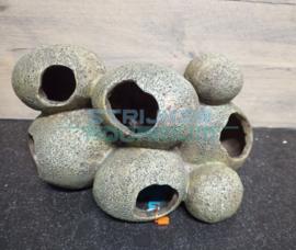Deco stenen rots formatie met 5 grotten (groot)
