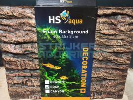 HS aqua foam achterwand/background rock brown 60x45x3 cm