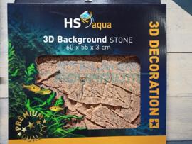 Achterwand/ background stone bruin 60x45x3cm