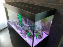 Dibond zwart aquariummeubel (aluminium kern)
