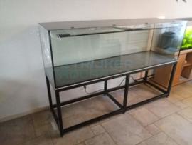 Maatwerk aquarium op RVS (Inox) frame