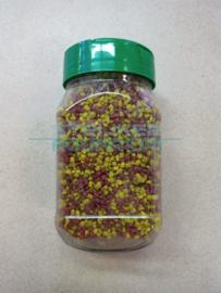 Pot 250ml rood/mosterd geel grind