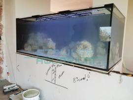 Aquarium in muur bouwen